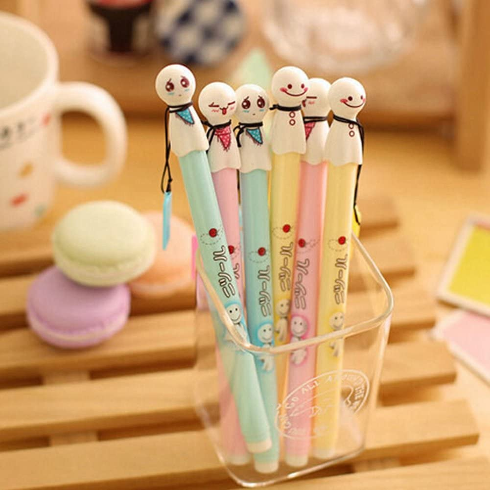 Pack of 12 Pcs 0.38 Mm Cute Cool Japanese Sunny Doll Gel Ink Pen Office School Supplies Students Children Gift by BLUECELL