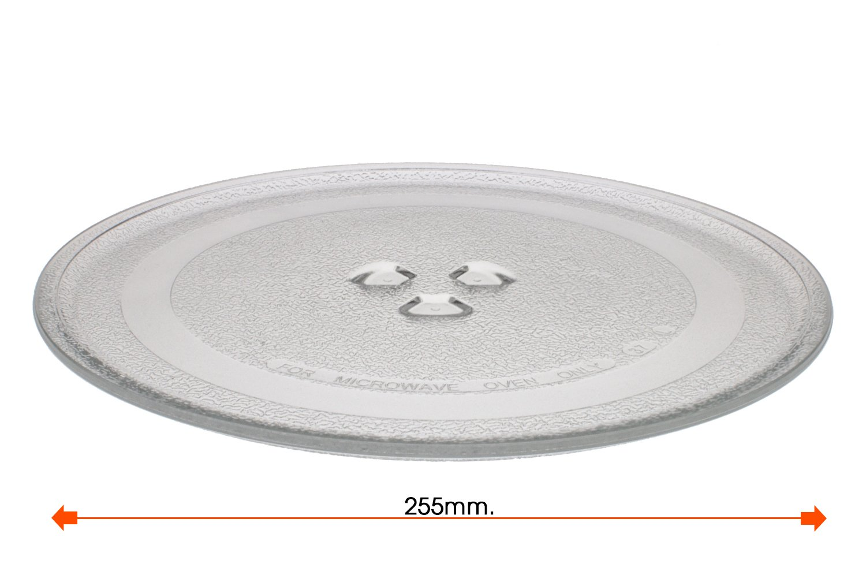 Plato giratorio microondas Balay Daewoo diametro 255 mm 3WG2421 4WG214A 3WG19X 3WH2126E: Amazon.es