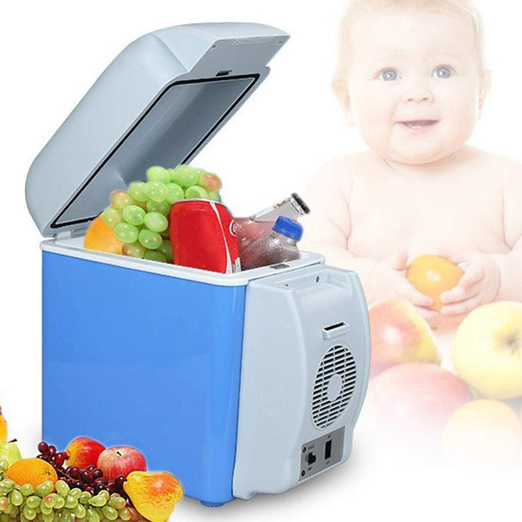 LEANO 7.5L Mini Car Refrigerator Low Noise Cooling Heating Portable Dual-Use Fridge Beverage Refrigerators by LEANO (Image #3)