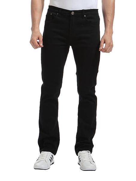 Alice & Elmer Stretch Slim Fit Rectos Pantalones,Vaqueros para Hombre, Negro 30W x