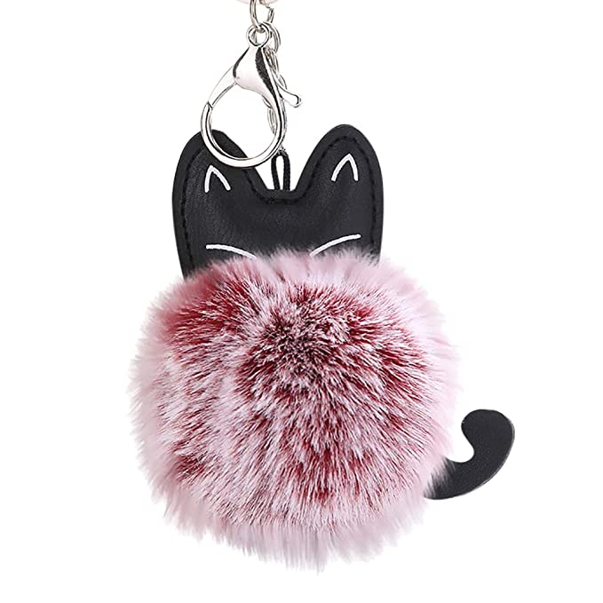 Llavero de gato de 8 cm, con colgante de aleación de ...