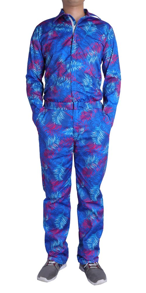 d3bcf0f28ded Galleon - Leapparel Mens Coveralls Romper 3D Printed Jumpsuit Long Sleeve  Zip Up Playsuit One Piece Streetwear Boilersuit Overalls