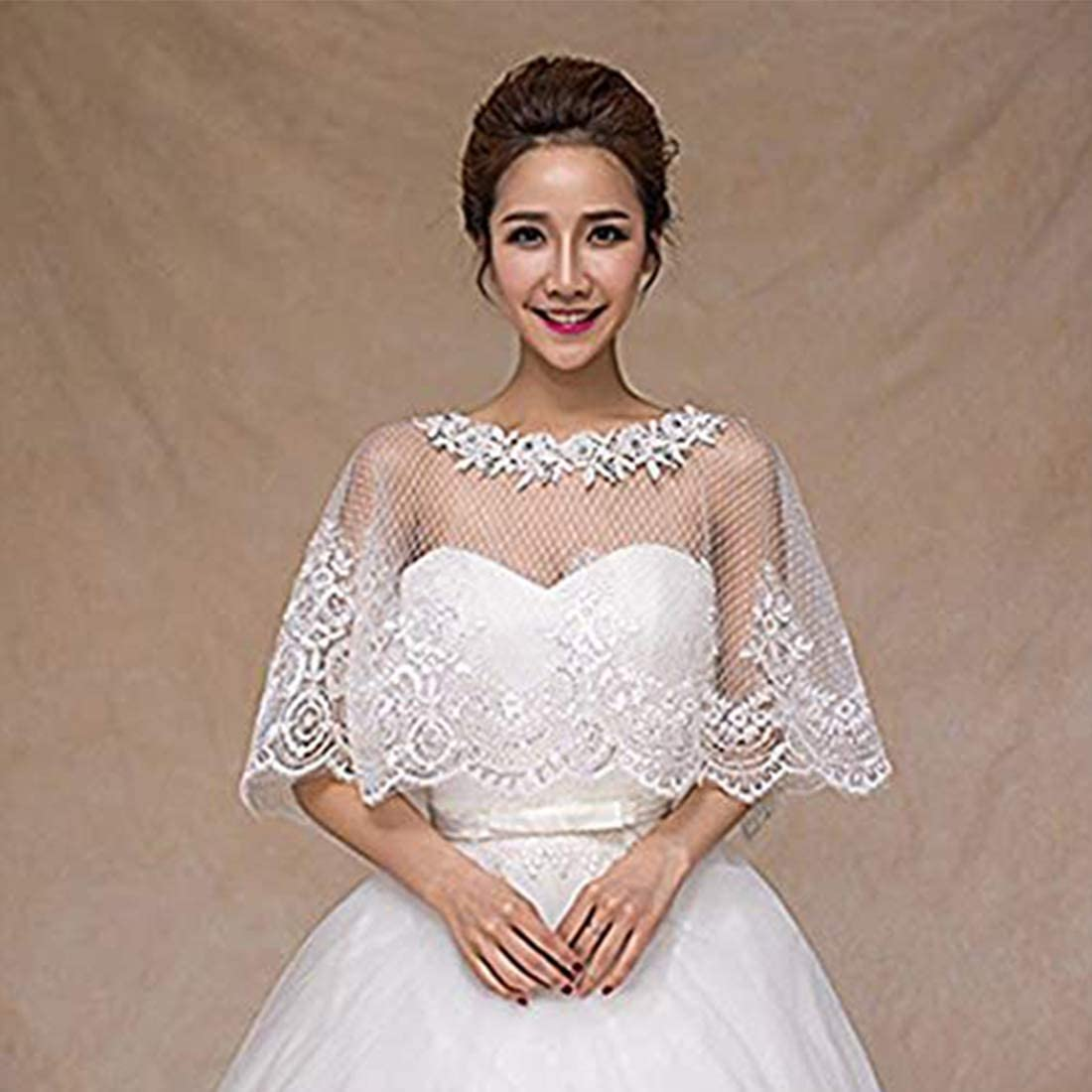 Embroidered Lace Tulle wedding shawls wraps for bride Wedding dress cover up