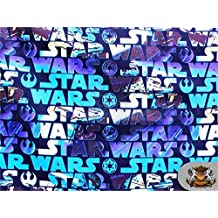 "100% Cotton Quilt Prints - "" 41 Star Wars Logo "" Fabrics / 45"" Wide / Sold..."