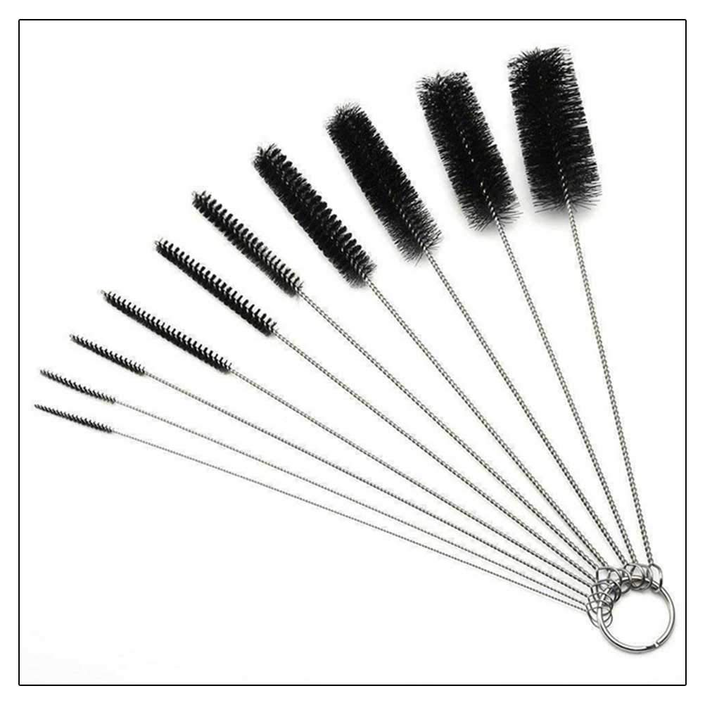 Surenhap 10Pcs Cleaning Brush Pipe Bottle Straws Clean Keyboards Brush Jewelry House Cleaning Brushes