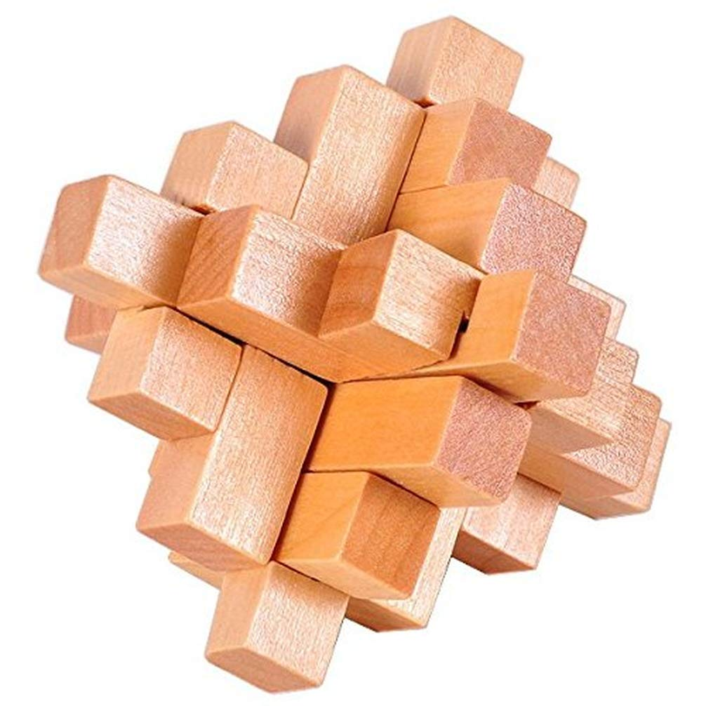 4 Pack 3D Wooden Cube Fidget Finger Toys Brain Teaser Puzzles Set IQ Challenge Set for The Best Learning & Education, Adult/Kids,Stress and Anxiety Relief/ADHD,Autism Adult and Children by Cytsj (Image #5)