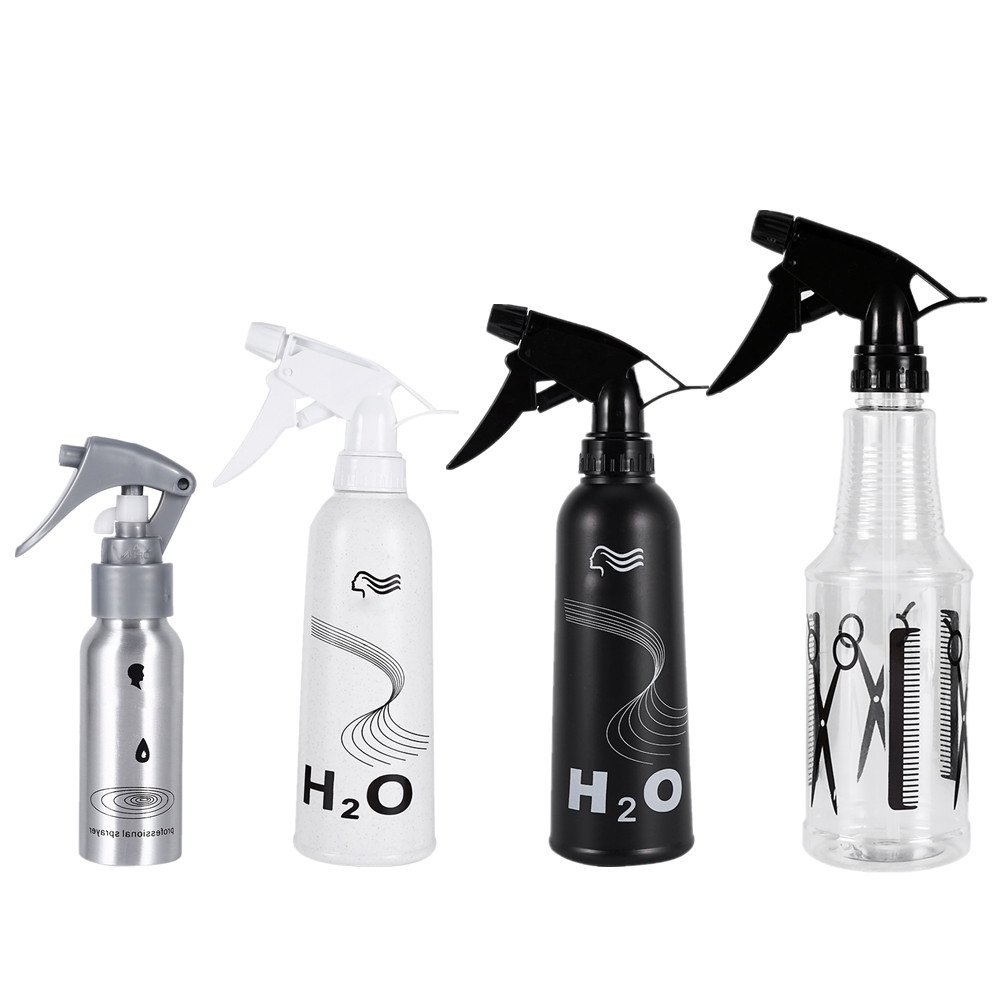 60/350/450ML 4Types Barber Salon Hair Micro Landscape Trigger Sprayer Bottle, Refillable Container is Great for Essential Oils, Cleaning Products, Homemade Cleaners