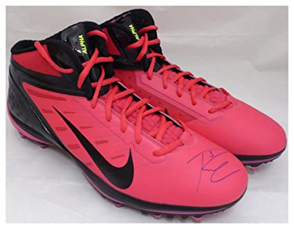 b56f4bb62c Russell Wilson Autographed Signed Pink Nike Cleats Shoes Seattle Seahawks  RW Holo #42197 - Certified