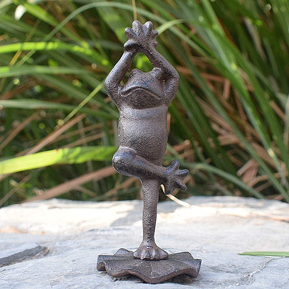 Cast Iron Toad Garden Statue Patio Yard Garden Decoration Outdoor Statue (A3888) Toad