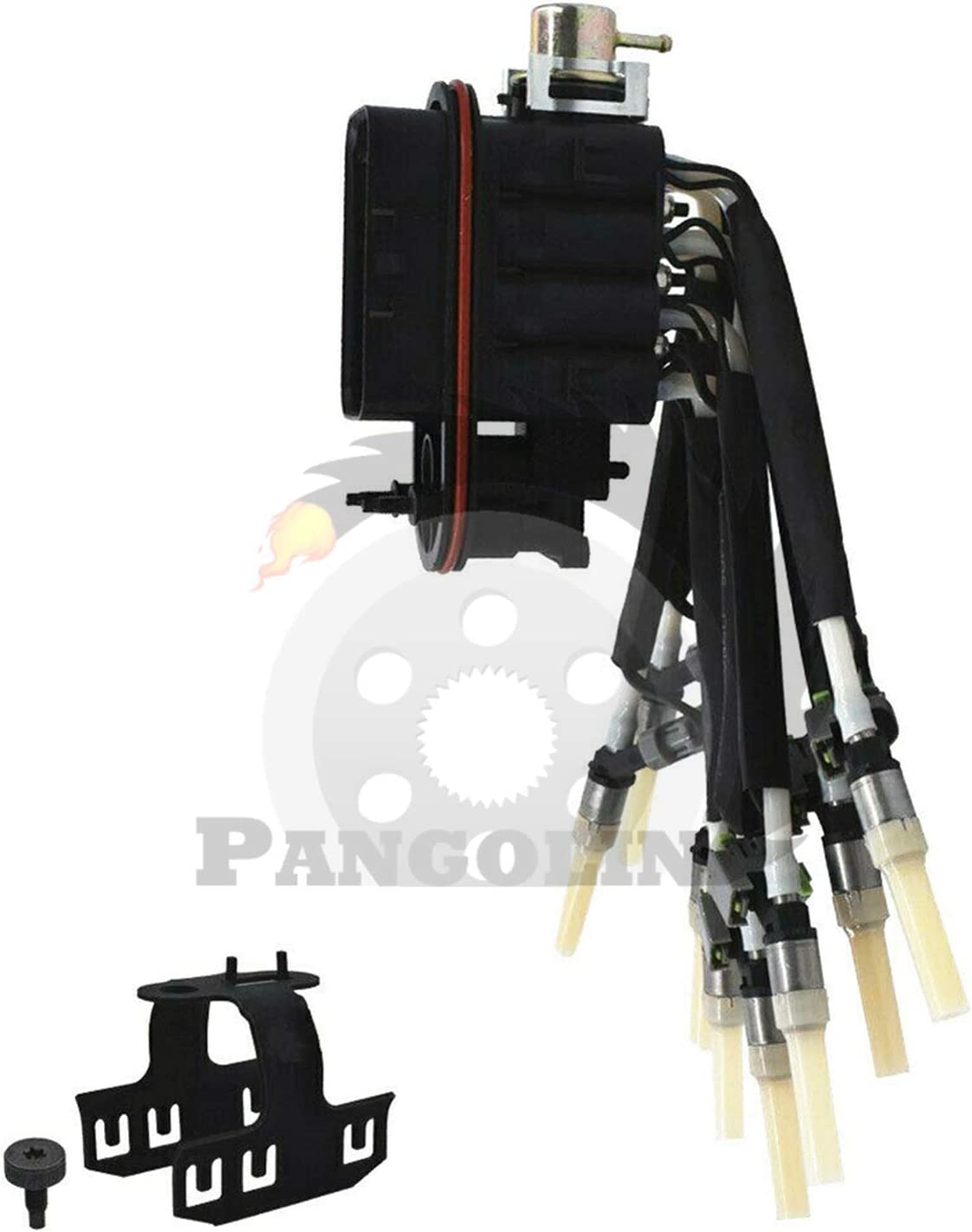 PANGOLIN 217-3029 89060440 Central Fuel Spyder Injector with Bracket FJ504 Fuel Injector Kit for Chevy GMC Oldsmobile Pickup Aftermarket Parts 3 Month Warranty