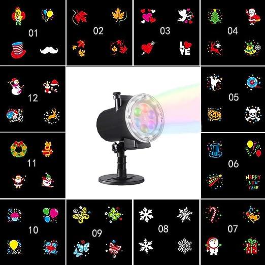 LED Proyector Luces Para Navidad 12 Diapositivas Reemplazables ...