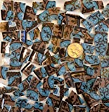 Mosaic Tile Art Supply for Mosaics & Crafts ~ Blue & Brown Fine China Tiles (T#660)