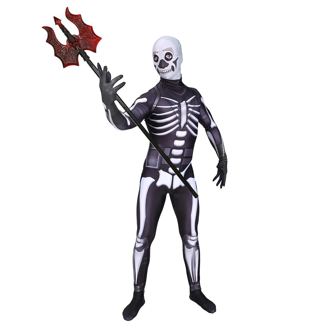 LBZPL Skull Trooper Halloween Adulto/Niños Terror Fortnite ...