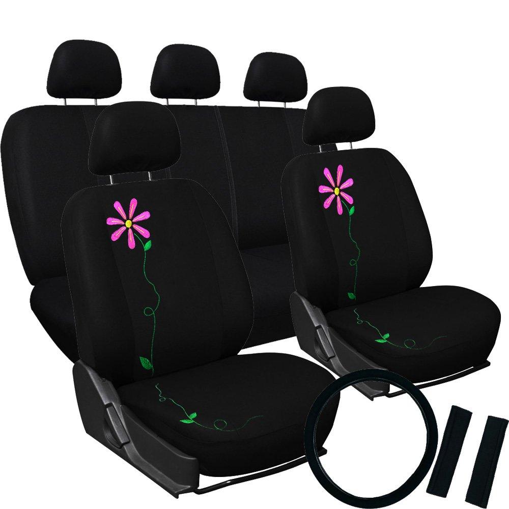 Coprisedile Fodera Auto Universale con Fiore Modello \' SUMMER FLOWER \'. Copri sedile con Fiori di ottima qualità e facili da montare. RiccioCarmine