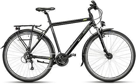 Hawk Trekking 24-G, 52 cm Bicicleta, Unisex Adulto, Color Negro ...