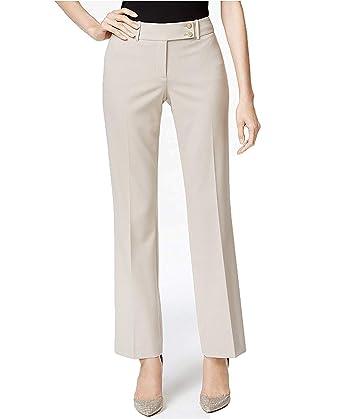 628117cafdc51 Calvin Klein Women s Fit Solutions Curvy Straight-Leg Trousers Khaki 14