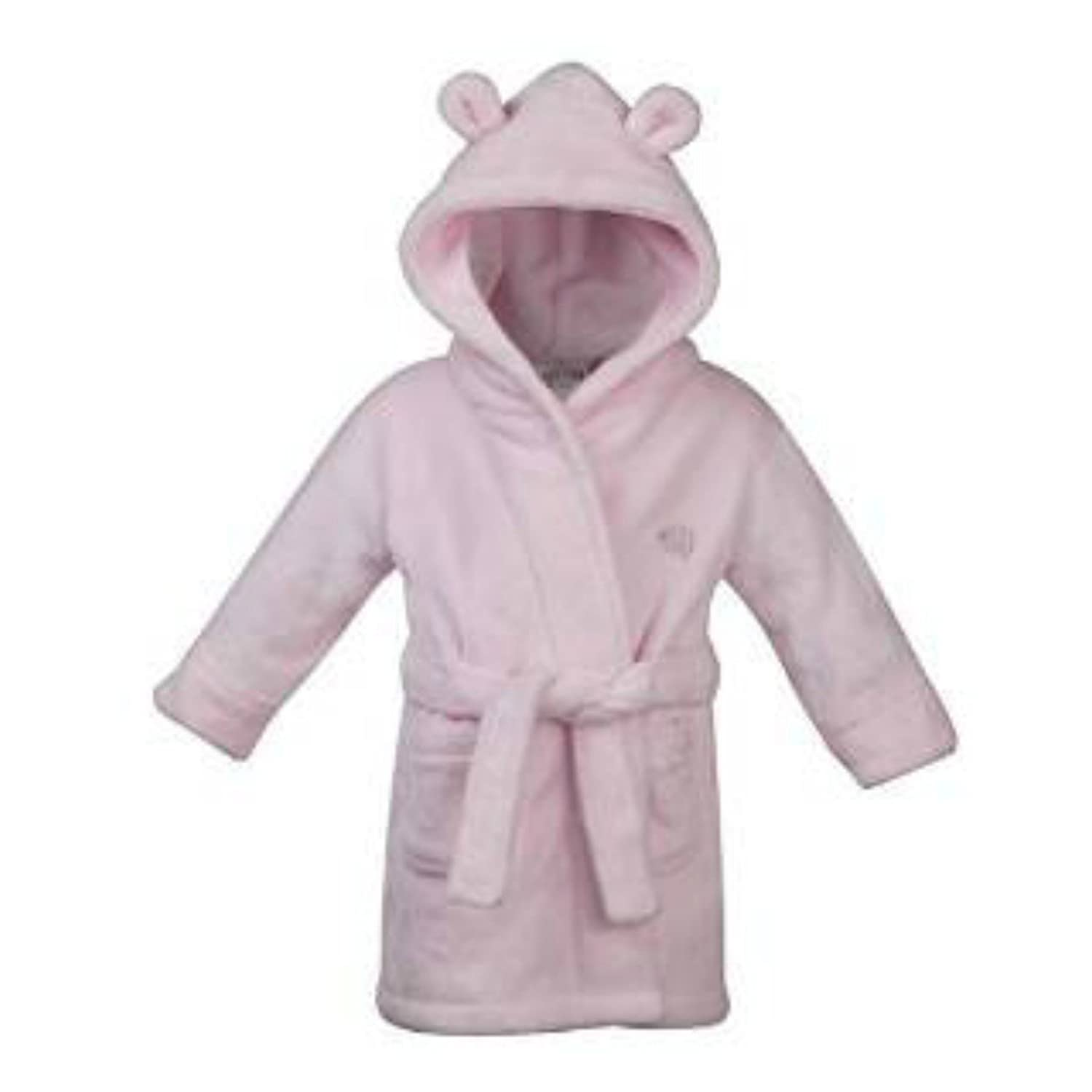 Beautiful Baby dressing Gown in Either Pink or Blue Soft Fluffy Fleece