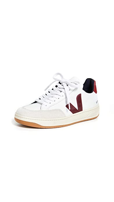 Veja Men s Trainers White MESH White Marsala White Size  12  Amazon ... 85f2315bedf4