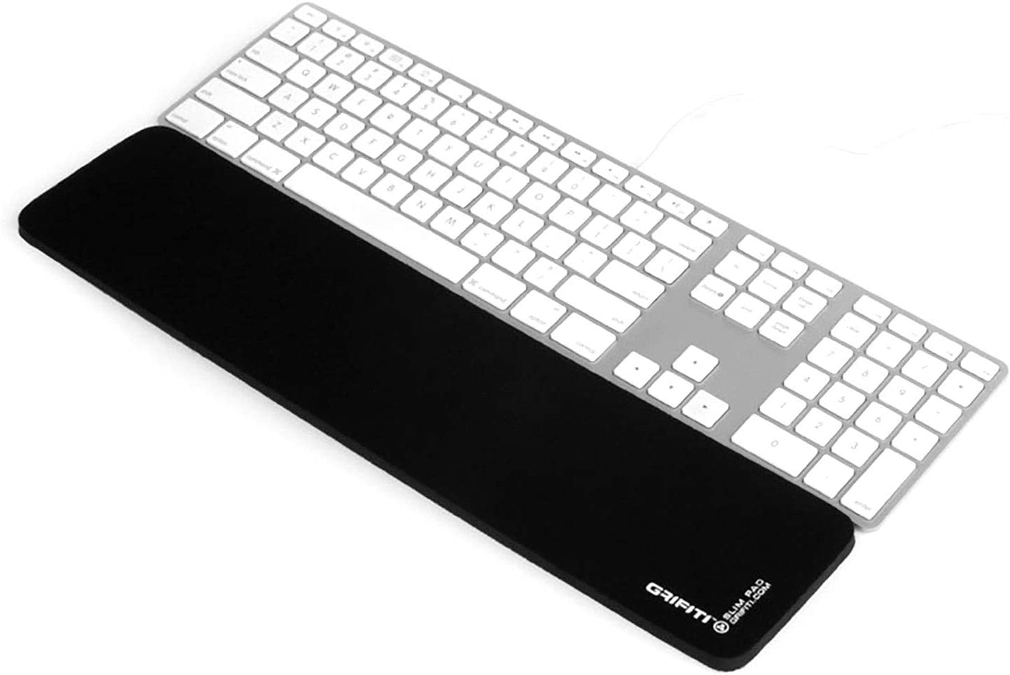Grifiti Slim Pad 17 Smooth Surface Poron Black Reversible Wrist Rest for Apple® Mac Mini Wireless Keyboard and Magic TrackPad and iMac® Wired USB Keyboard