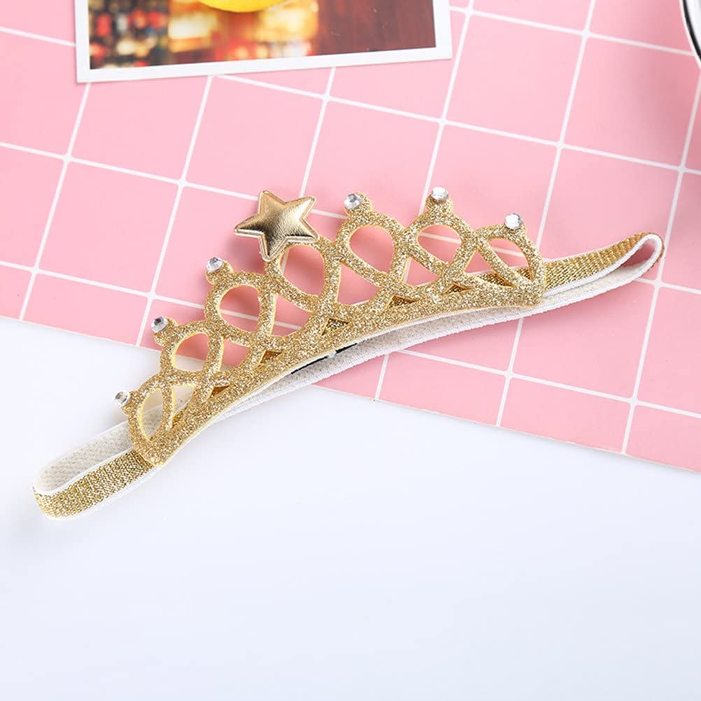 Frcolor Corona principessa per regalo di compleanno per bambina argento e oro confezione da 2