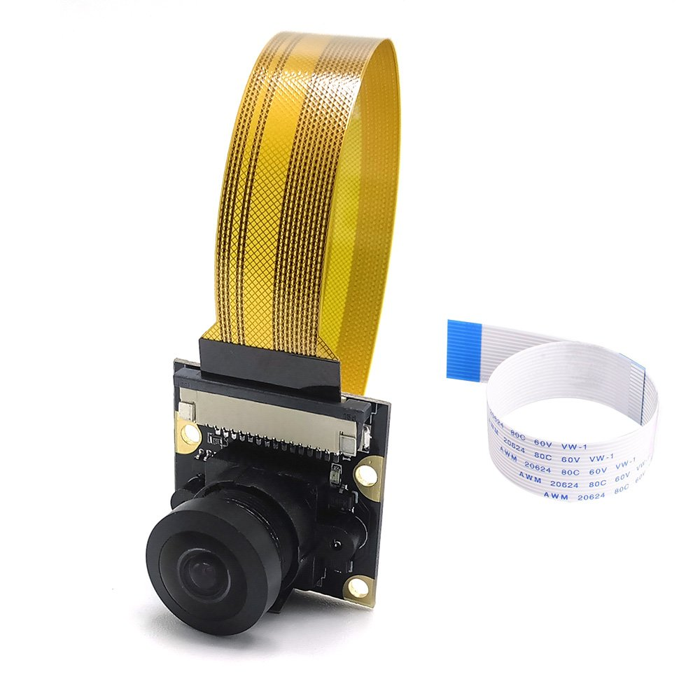 Amadget Wide Angle Fish-Eye Camera Lenses for Raspberry Pi Model A/B/B+, Pi 2 and Raspberry Pi 3, Pi Zero/Zero W