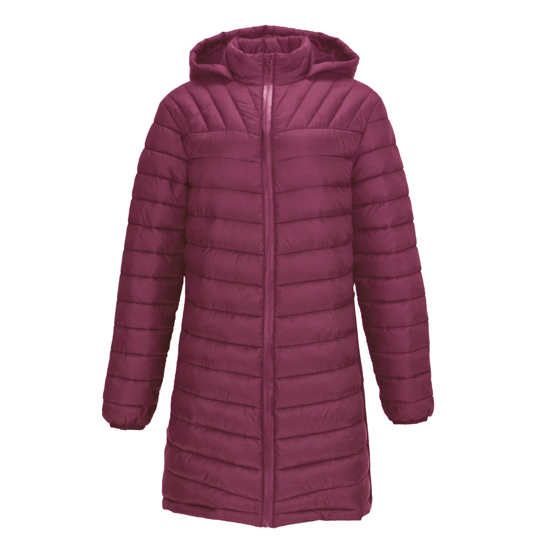 Facitisu Women's Warm Winter Down Coat Sherpa Lined Parka Ultra Light Weight Hooded Jacket