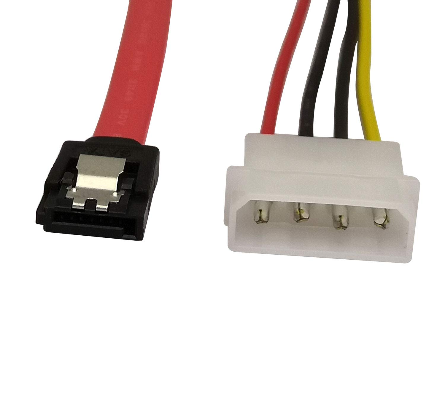 22 Pin Sata Ata Data And Power Combo Cable22pin To Slimline Connector 6 Cable 7pin Serial 4pin Ide Lp4 16inch 40cmsata