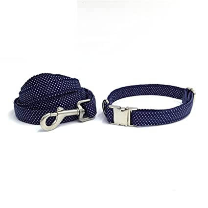 03cdba3b4f2 Image Unavailable. Image not available for. Color  Feroni blue dog collar  and lead set ...