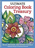 img - for Ultimate Coloring Book Treasury: Relax, Recharge, and Refresh Yourself (Design Originals) 208 Pages of Beautiful One-Side-Only Designs on Extra-Thick, Perforated Paper in a Spiral Lay-Flat Binding book / textbook / text book