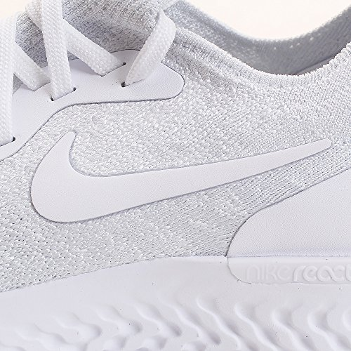 Pure Epic Chaussures Femme Compétition Flyknit WMNS React White Multicolore de NIKE Running True 102 White Platinum OwFaqCA