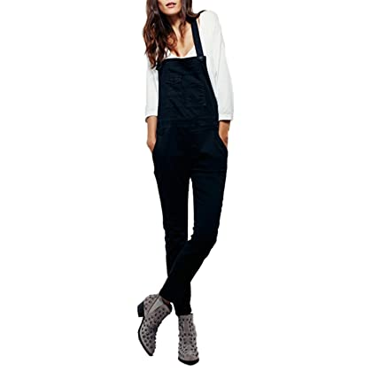 f7887229a72 comHAOYIHUI Womens Working Style Pockets Casual Basic Overall Long Jumpsuit
