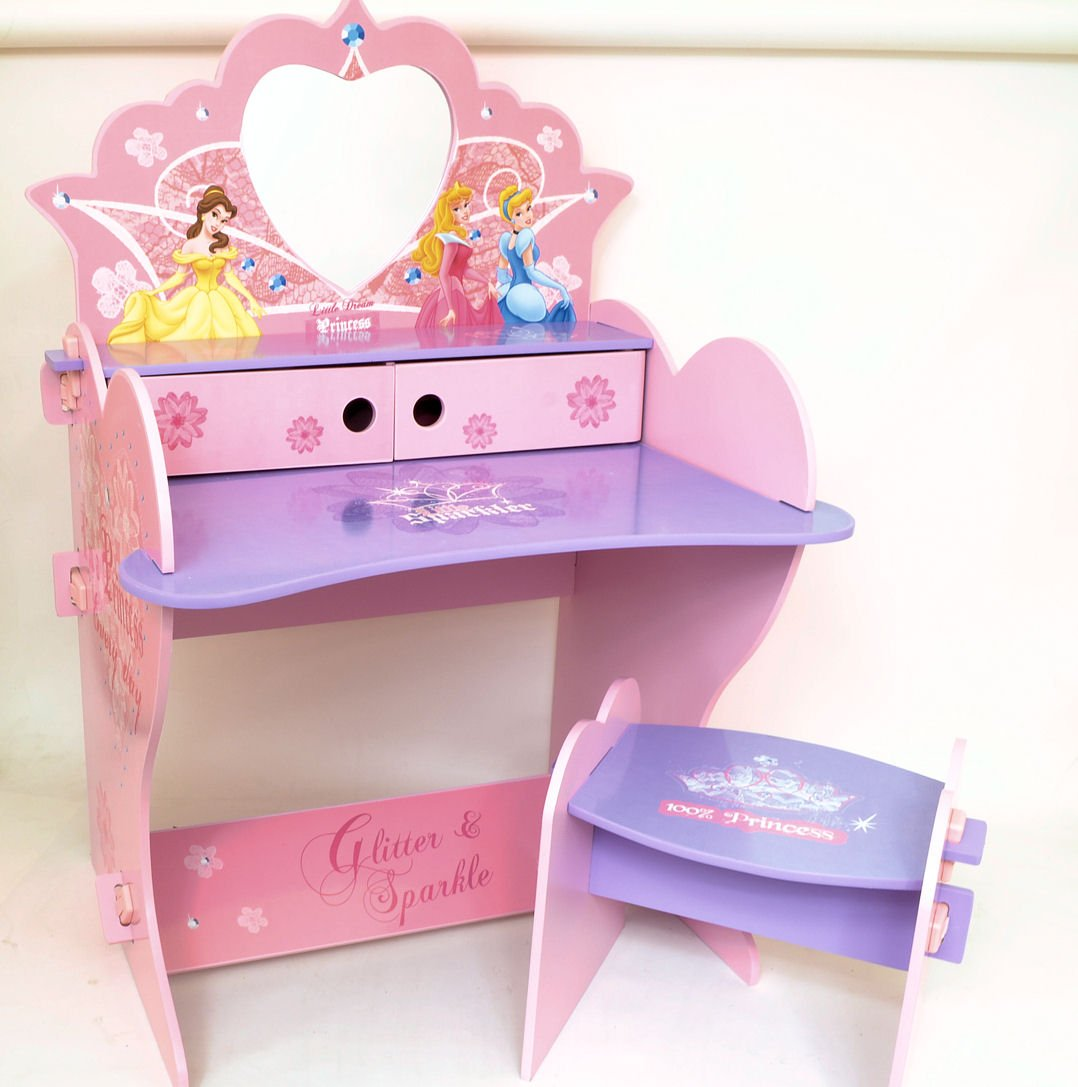 Disney Princess Wooden Vanity Desk and Stool with Mirror Amazon.co.uk Kitchen u0026 Home & Disney Princess Wooden Vanity Desk and Stool with Mirror: Amazon ... islam-shia.org