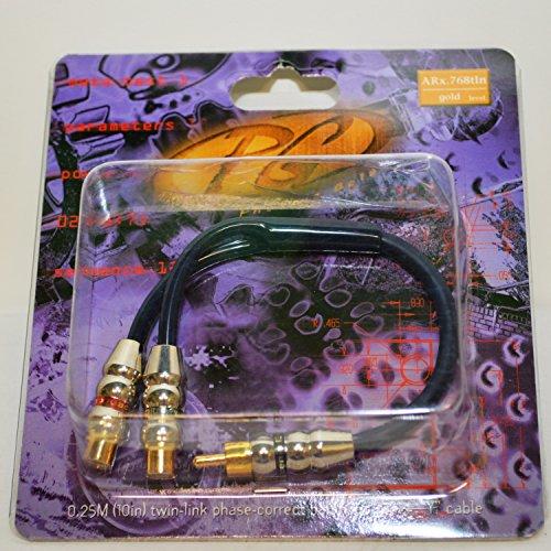 Phoenix Gold ARX768TLN, RCA-Y Cable, 10 Gauge (6mm²), 1x male to 2x female, TwinLink