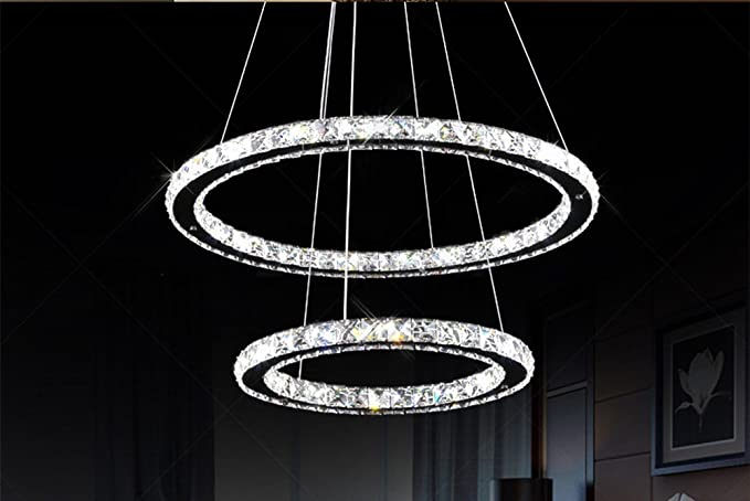 Joeyhome - Moderna lámpara LED de cristal para salón ...