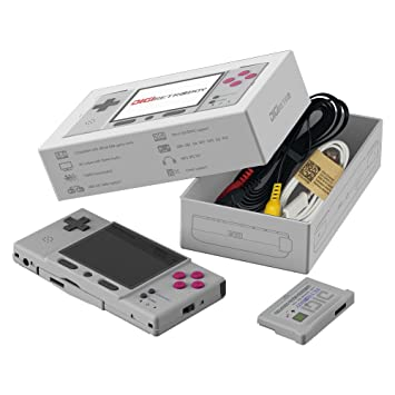Consola Game Boy Advance con juegos clásicos de GBA cartucho DIGI Retroboy portable (Gris)