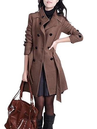 Mantel lang stehkragen