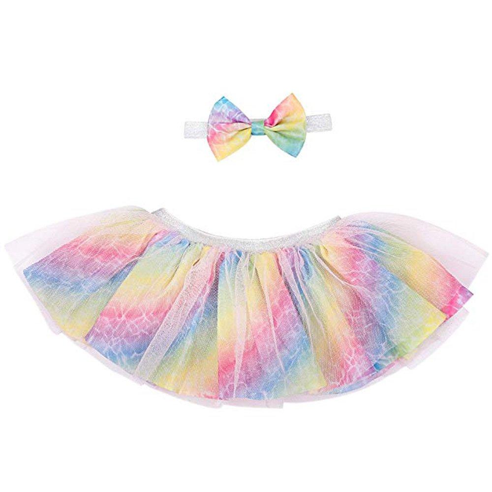 C.N. CN Newborn Girls Tutu Skirt Photography Baby Dress Outfits with Headband LTYYT18714-1