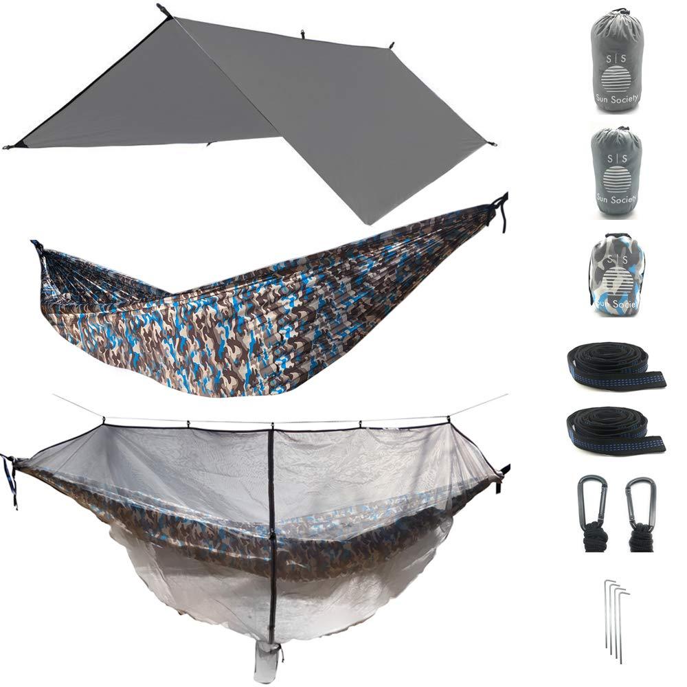 3 in 1 Camo Camping Hammock RainFly