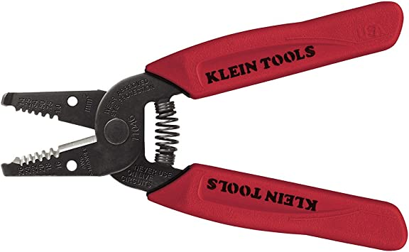 Klein Tools 11046 Wire Stripper/Cutter 16-26 AWG Stranded, Red - - Amazon.com