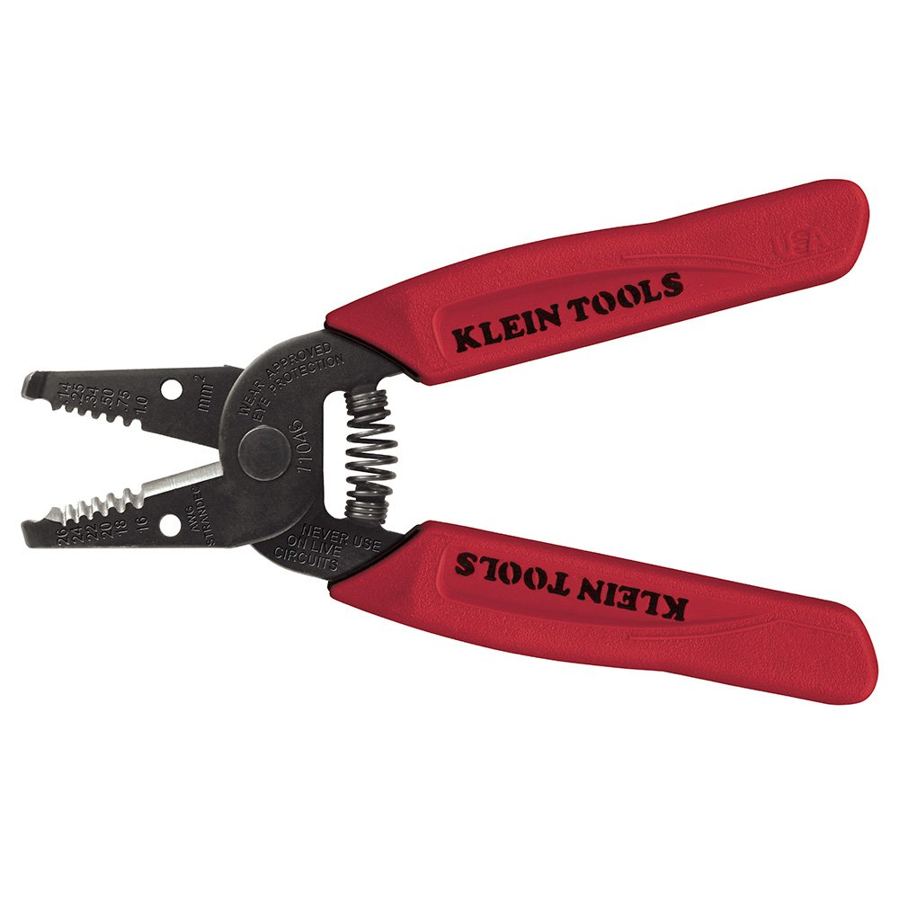 Wire Stripper/Cutter 16-26 AWG Stranded Klein Tools 11046, Red by Klein Tools