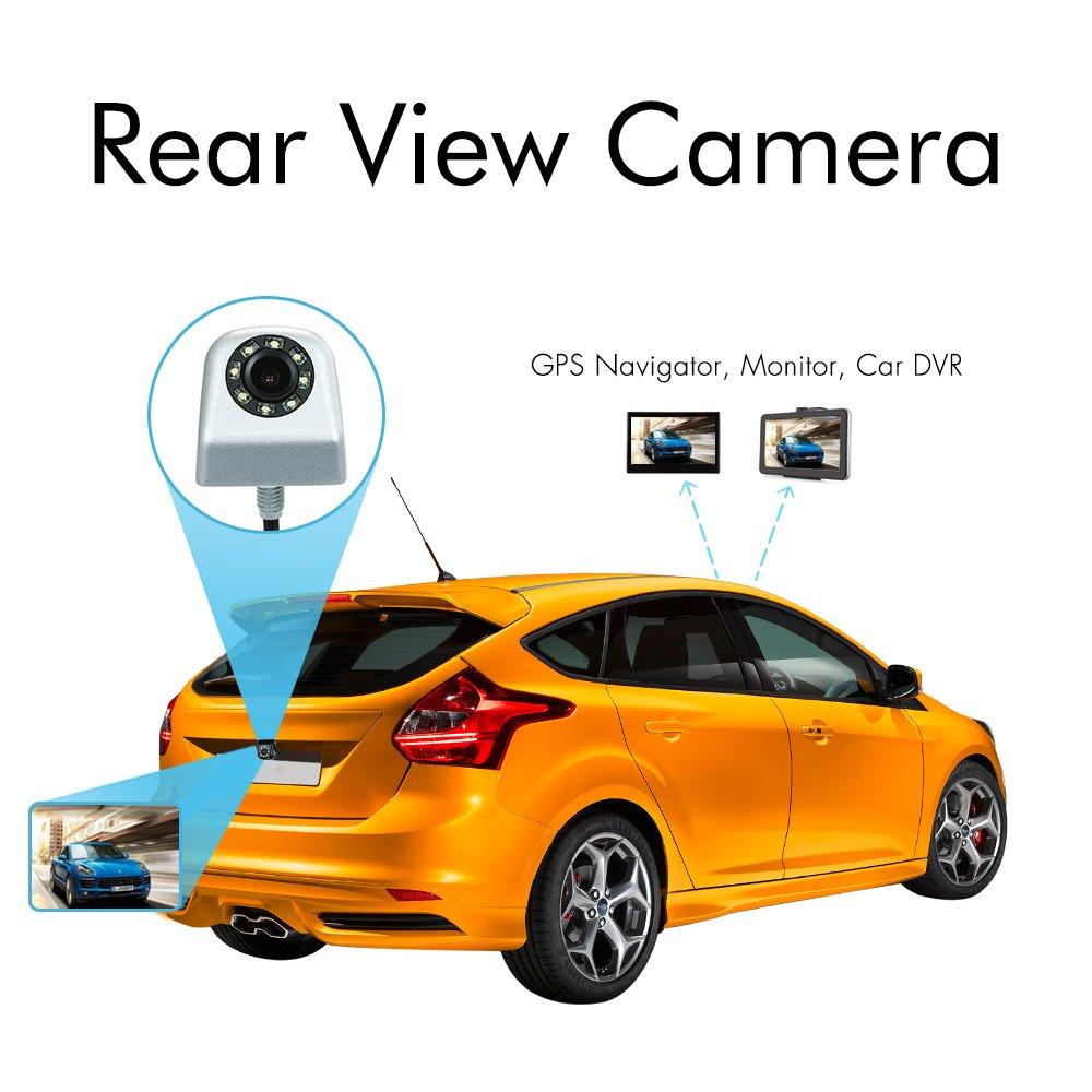 KKmoon Cam/éra de Recul Voiture Imperm/éable /à l/'eau avec l/'aide de Parking 8 LED Night Vision