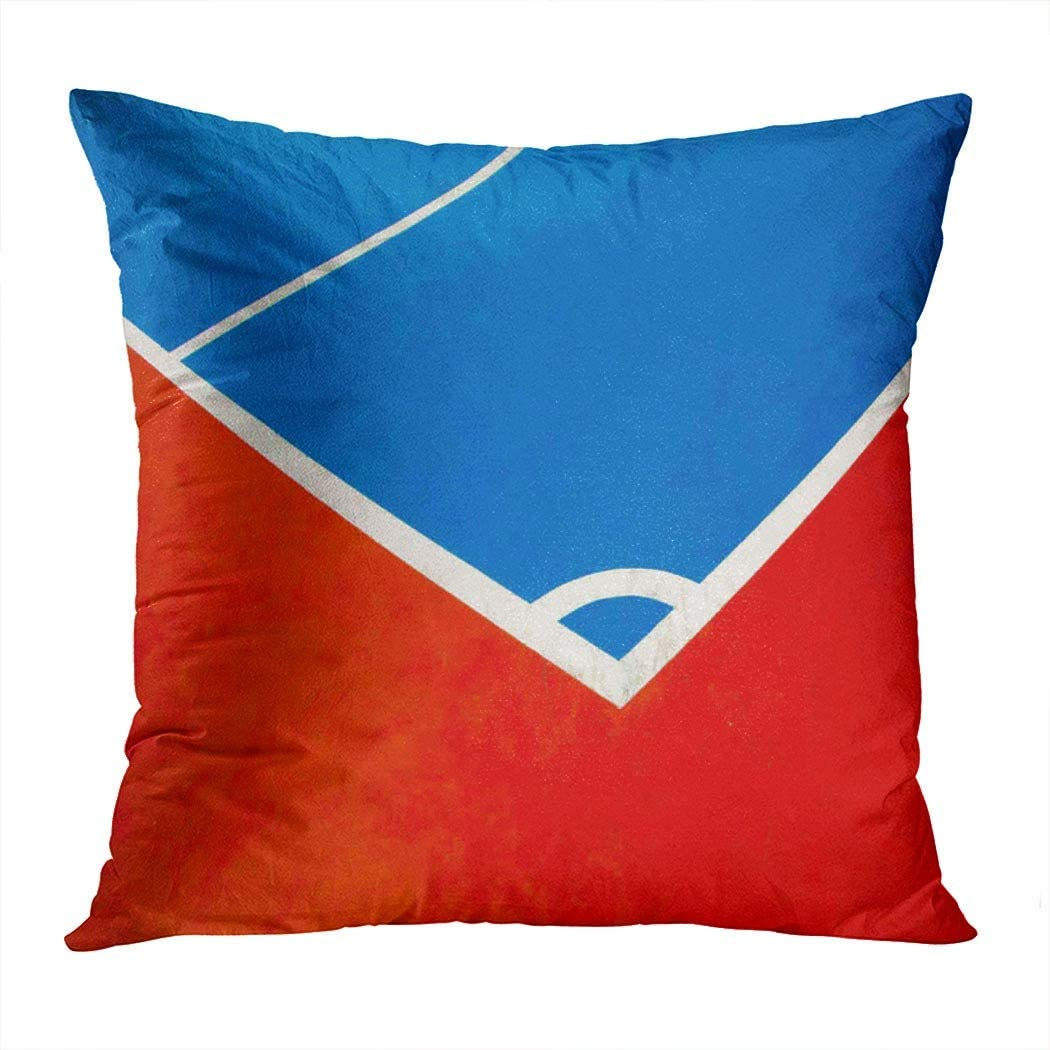 Vooft Throw Pillow Decor Square 16 x 16 Inch Corner of Futsal Field Football and Basketball Courtoutdoor Field Decorative Cushion Cover Printed Pillowcase Cover Home Sofa Living Room