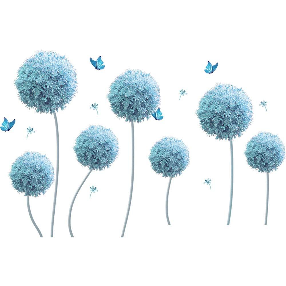 Uioy Etiqueta engomada Creativa de la Pared del Fondo Fondo Fondo de la decoración del Sitio del Dormitorio de Las Etiquetas engomadas (Color : Azul) 741b51