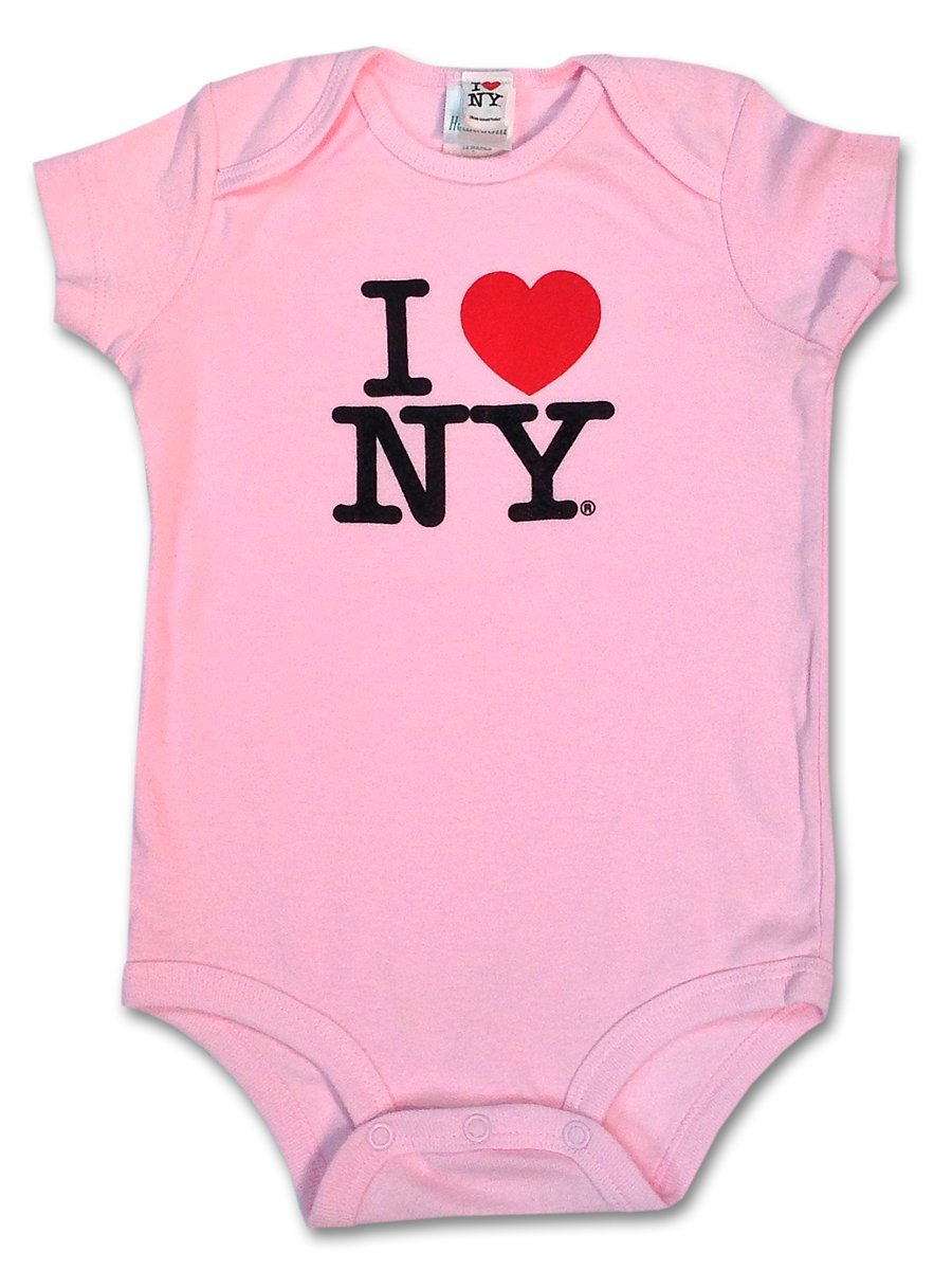 S & T World Products I Love NY Babies Onesie 100% Soft Cotton Pink 6 Month