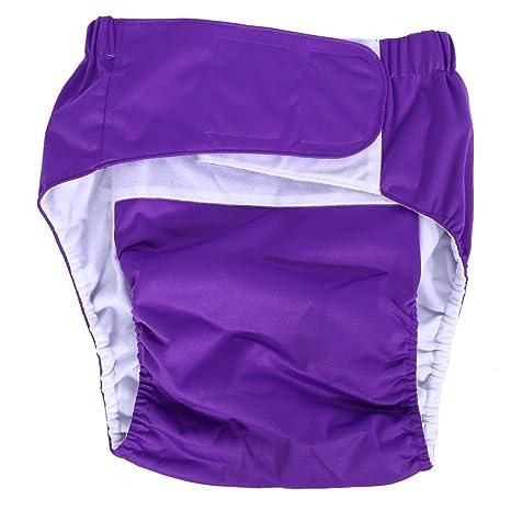 Pañal para adultos, tamaño mediano, de algodón cómodo, reutilizable, con excelente absorción