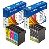 PrintOxe™ Compatible 10 Ink Cartridges for E Series 200XL (4 Black, 2 Cyan, 2 Magenta, &2 Yellow) T200XL for Expression Home XP-100 / 200 / 300 / 310 / 400 / 410 and WorkForce WF-2510 / 2520 / 2530 / 2540 . 200 High Yield