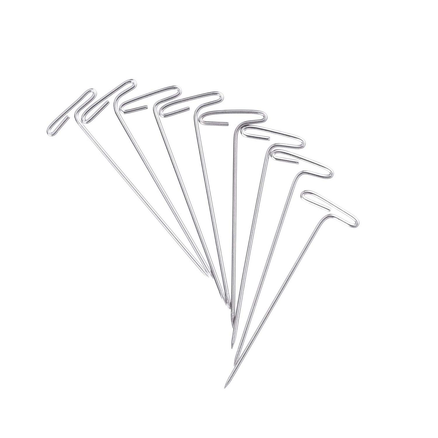 Zuoyou 150 Pieces Steel T-pins 2 Inch and 1-1//2 Inch for Knitting Modelling and Crafts