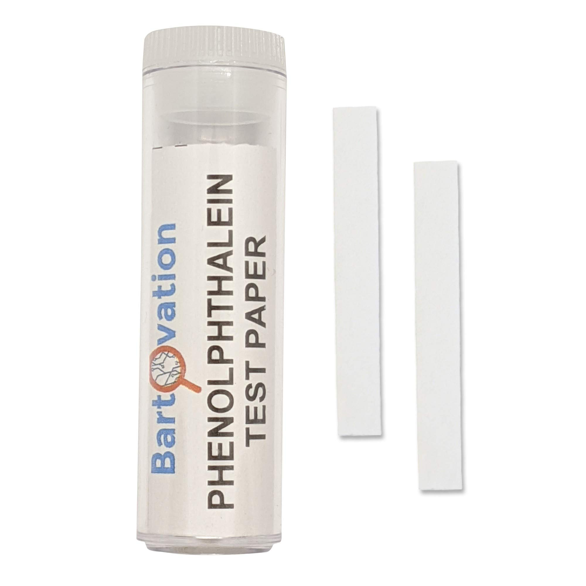 Phenolphthalein Test Paper [Vial of 100 Paper Strips] for Qualitative Leak Detection of Ammonia Vapors