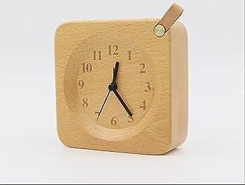 Sxw carré réveil en bois fait à la main table de chevet et table de