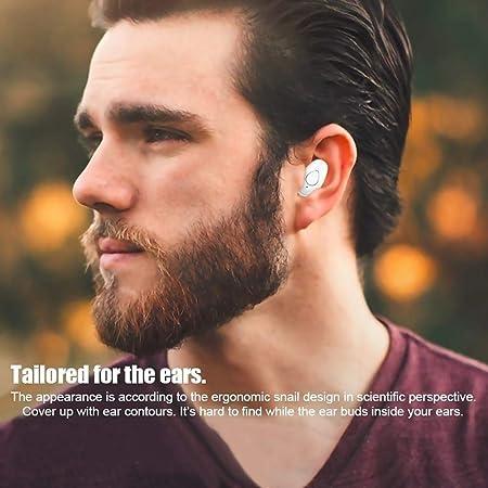 Atrumly Kabellose Bluetooth-Kopfh/örer mit Mikrofon kabellos Dual-Mikrofon Ger/äuschunterdr/ückung